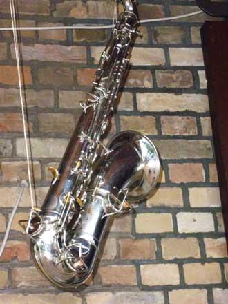 Saxophon beim Freiluftkino 2011 im Kinomuseum Vollbüttel