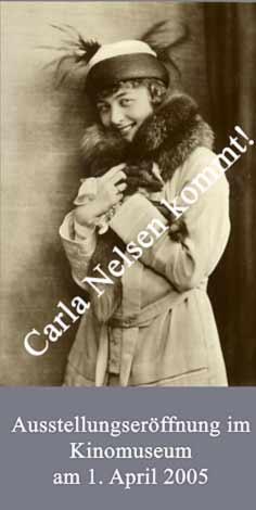 Plakat zur Carla Nelsen-Ausstellung 2005 im Kinomuseum